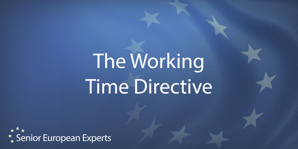 working time directive The directive reduces the working week to an average of 48 hours and there are further regulations relating to break periods and holiday allowance, such as: 11 hours rest a day and a right to a day off each week  a right to a rest break if the working day is longer than six hours  56 weeks paid leave each year.
